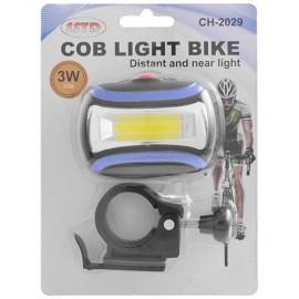 Ліхтар передній для велосипеда 2029 3W-COB батар. 3xAAA