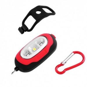 Ліхтар для велосипеда + брелок 5658 3 LED( 1 білий, 2 червоних)