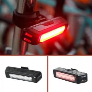 Ліхтар для велосипеда 2261 COB(Червоне та біле світло) 100люм. акум, micro USB