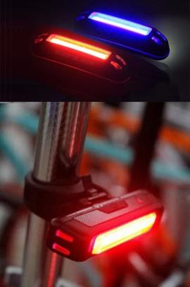 Ліхтар для велосипеда 2261 COB(Червоне та синє світло) 100люм. акум, micro USB