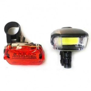 Ліхтарі для велосипеда 508 передній COB задній 5LED червоний