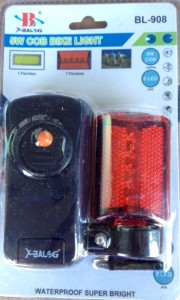 Ліхтарі для велосипеда 908 передній COB задній 5LED червоний