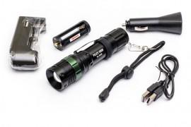 Ліхтар (фонарик) Police 8455 аккумуляторний, 500 люмен, фокусировка, 3 реж, зарядка 220 V + для авто
