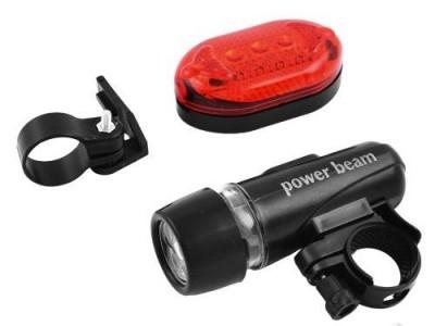 Ліхтарі для велосипеда 108, передній 5LED,  задній STOP-5LED, батарейки