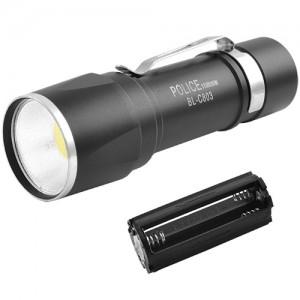 Ліхтар (фонарик) Police COB метал,батар. 3xAAA