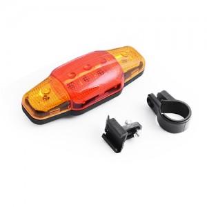 Задня фара СТОП червоний-оранж 5 діодів для велосипеда