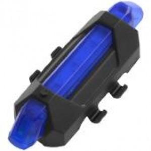 Задня фара СТОП в захисті 918, USB, акумулятор Li-ion,  синій