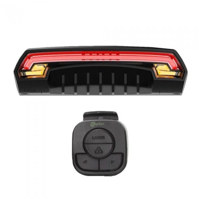 Задня фара СТОП Meilan X5 'STOP' з поворотами (червоні + жовті повороти + лазерний габарит), встр. а